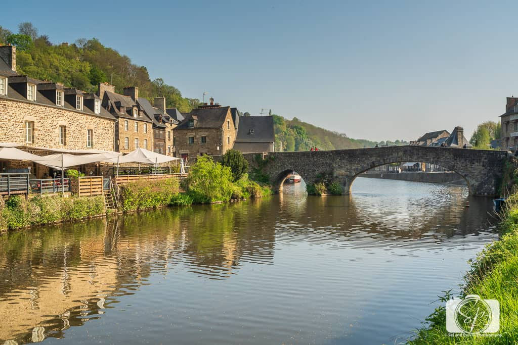 Bridge over the River Rance in Dinan France Brittany