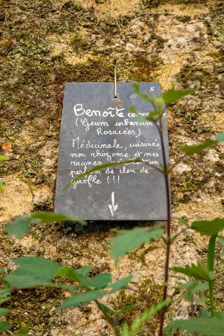 Garden Plaque Rue du Jerzual in Dinan France