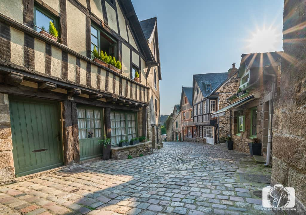 Medieval Half-Timbered Houses and Cobblestoned streets on Rue du Jerzual in Dinan France.jpg