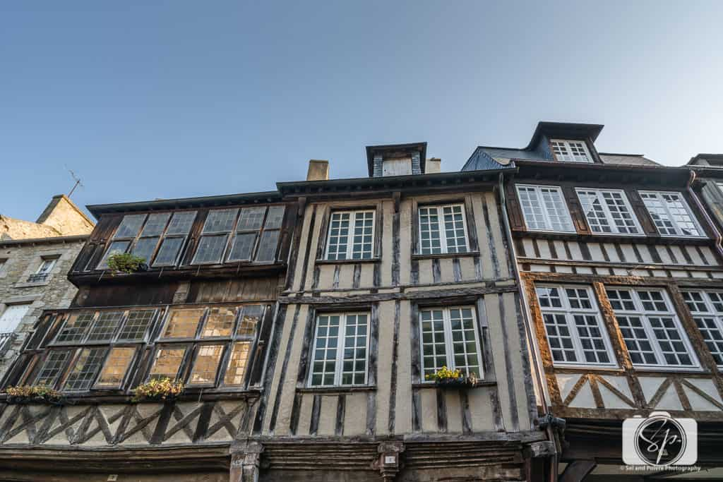 Medieval Half-Timbered Houses in Dinan France
