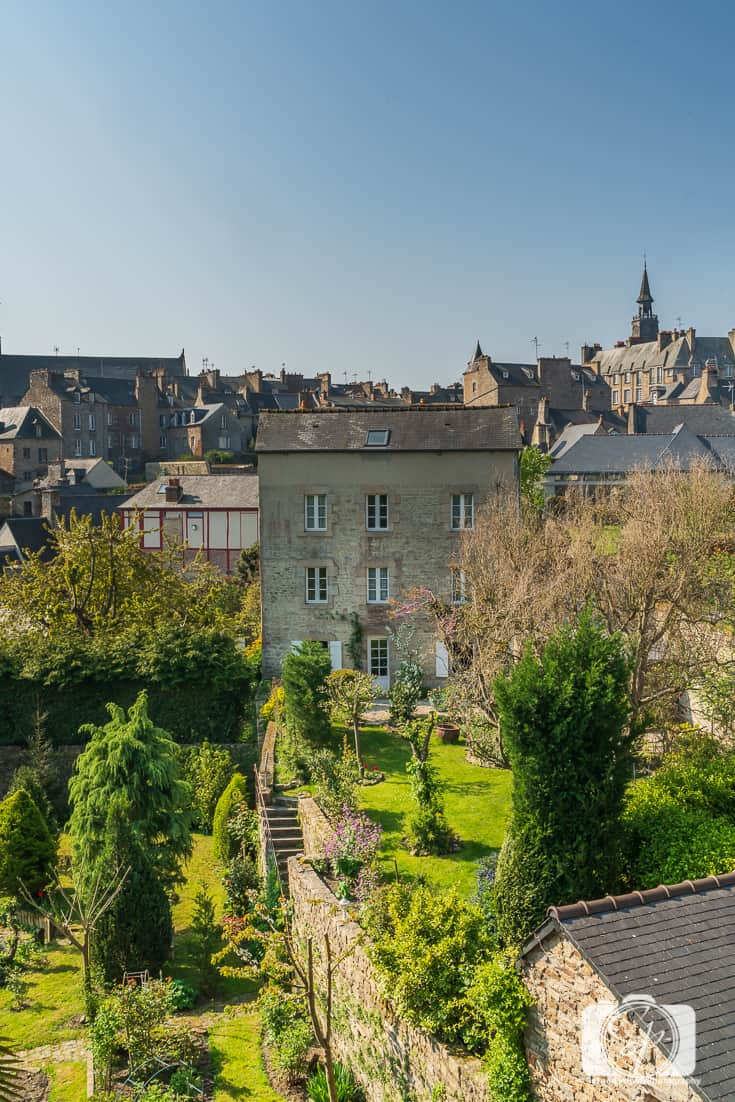 Medieval Houses taken from the Ramparts in Dinan Brittany France