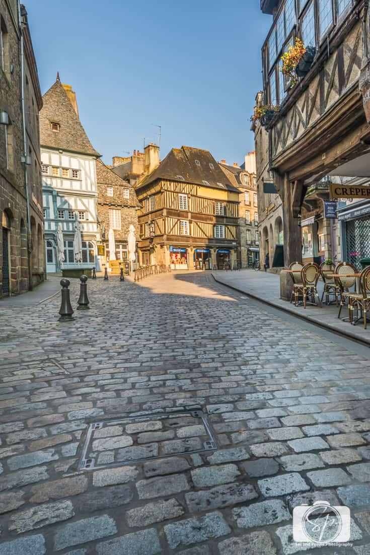 Place des Merciers et des Cordeliers Dinan Brittany France