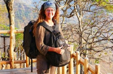 Traveler Tuesday - Wendy of The Nomadic Vegan_Wendy with Backpack