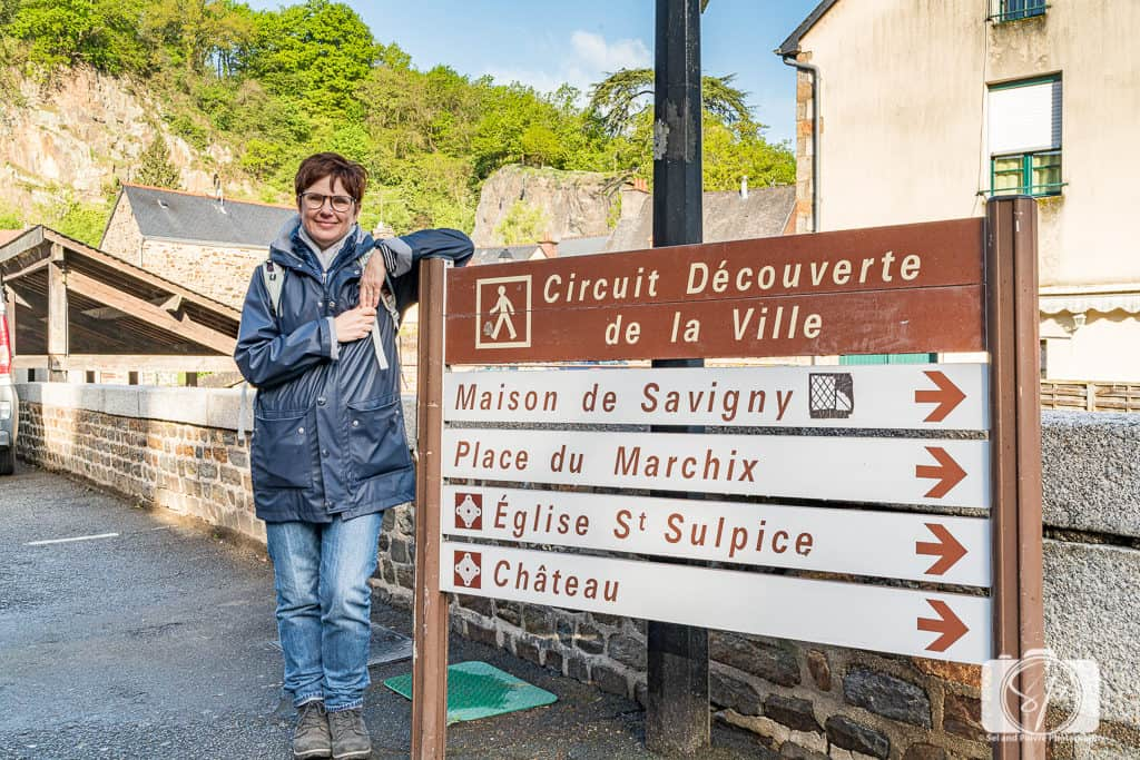 Andi at the walking path near the Chateau de Fougeres - Fougeres France
