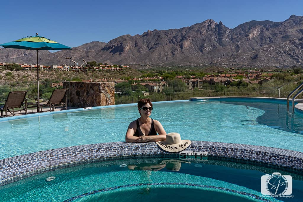 Andi in the Hacienda del Sol Pool