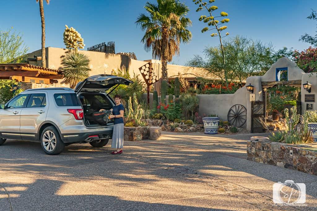 Arriving at Hacienda del Sol in Tucson