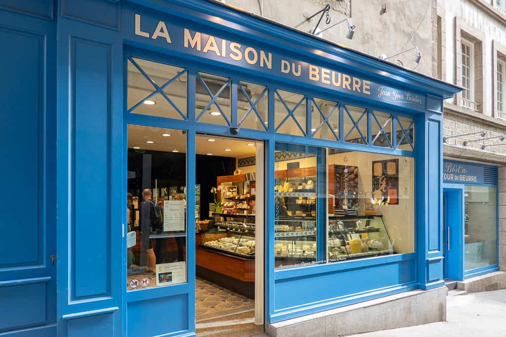 Bordier Butter Shop in Saint Malo France - La Maison du Beurre Bordier