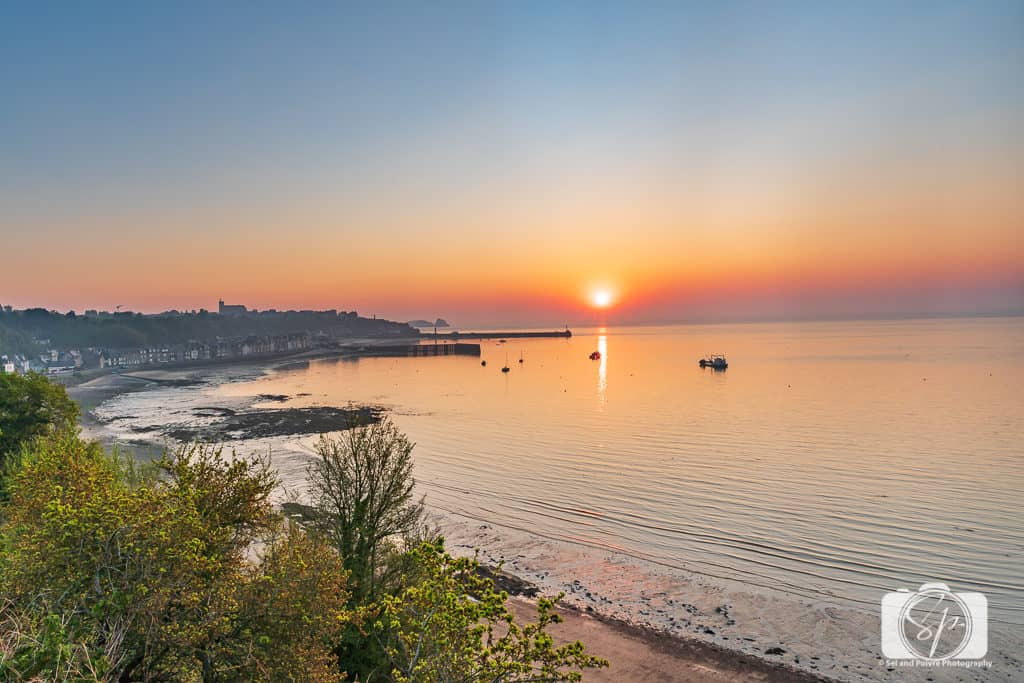 Cancale-Brittany-France- port at sunset