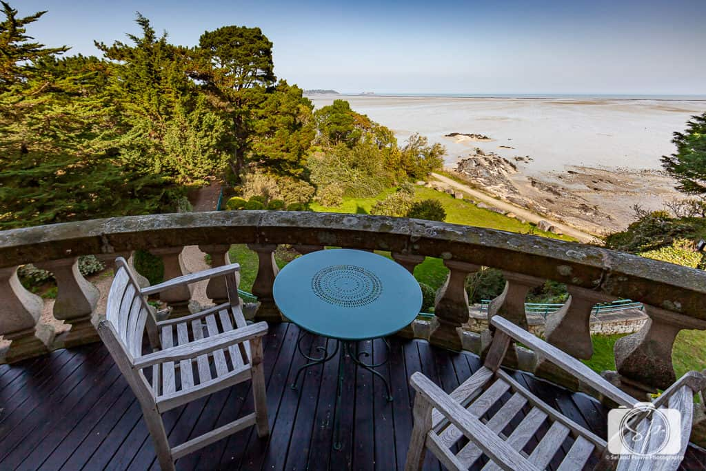 Chateau Richieux Terrace in Cancale France