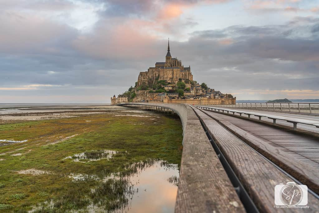 Early morning at Mont St Michel Normandy France