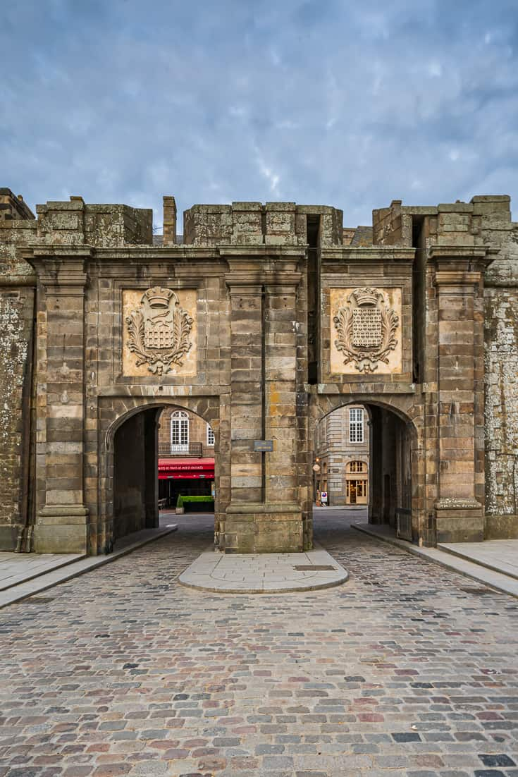 Entry Gates in Saint Malo Old Town