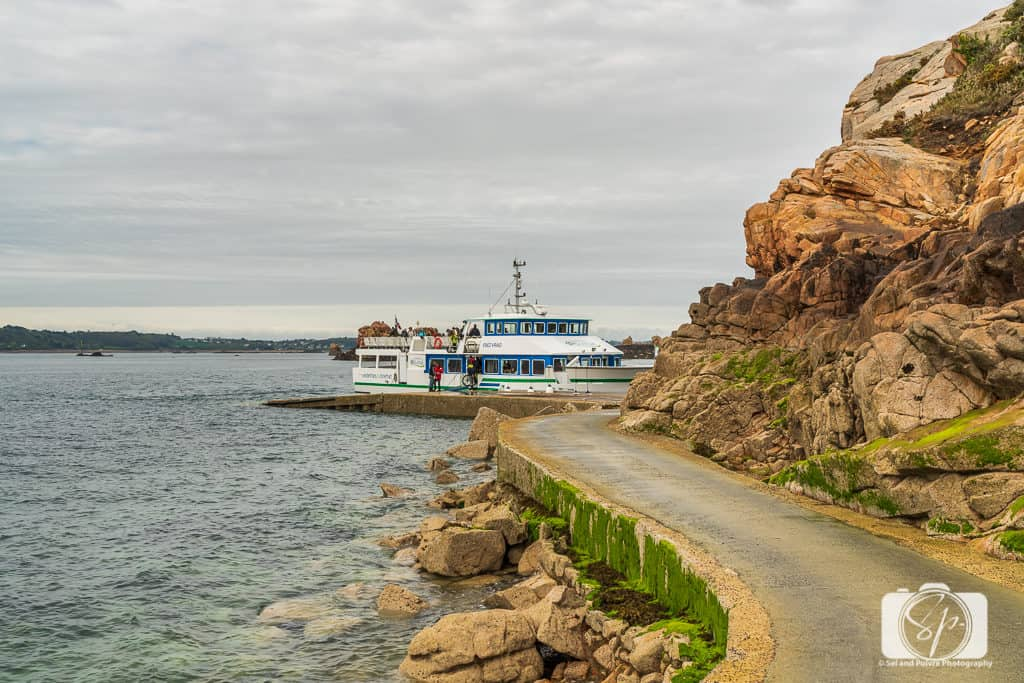 Ferry for transportation to and from the Ile de Brehat Brittany France