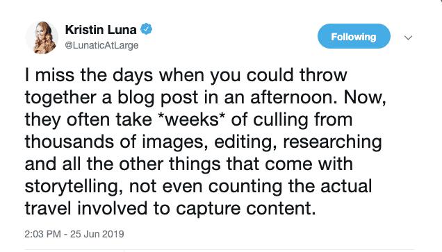 Kristin Luna Tweet