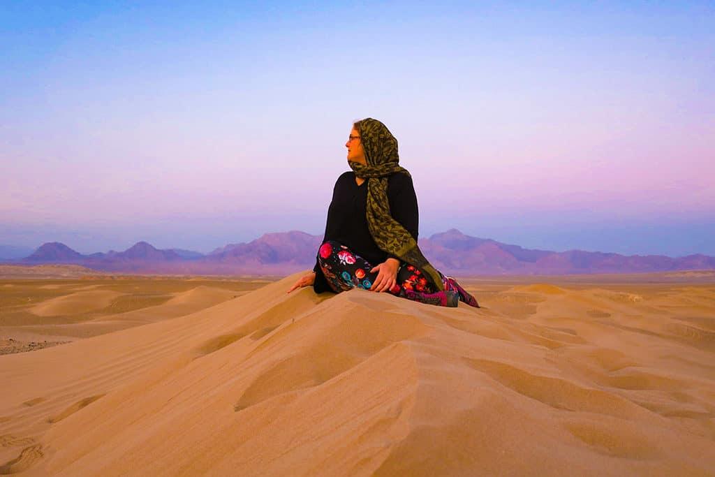 Naomi of Probe around the Globe_desert