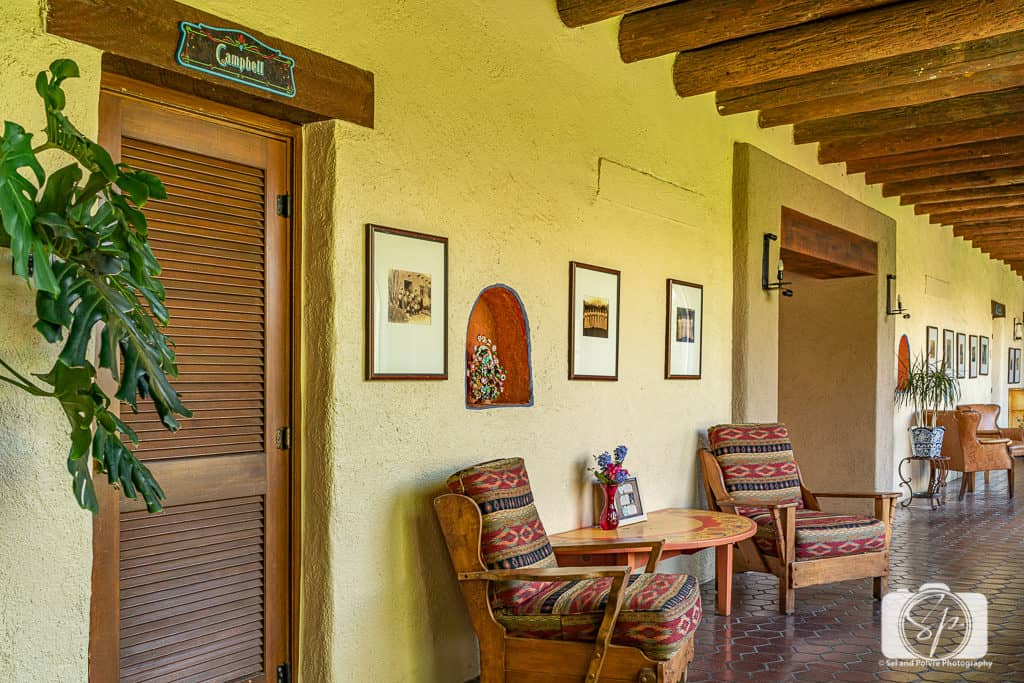 Part of the historical Hacienda del Sol Guest Ranch Resort Building