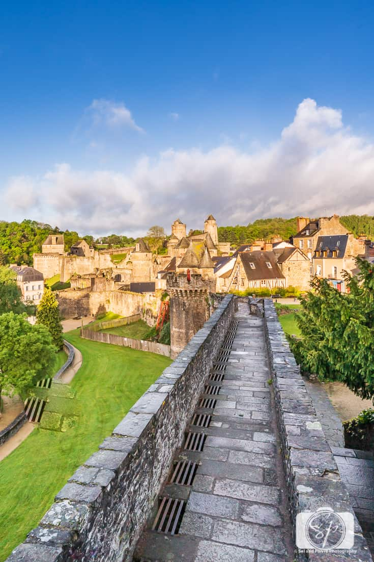 Ramparts around the Chateau de Fougeres - Fougeres France