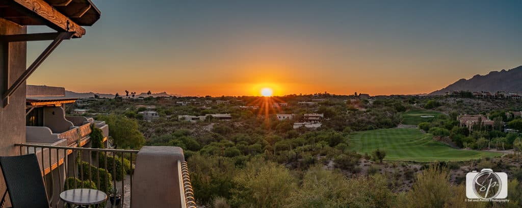 Sunset at Hacienda del Sol in Tucson Arizona