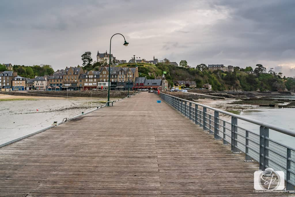 View of the port of Cancale from the pier