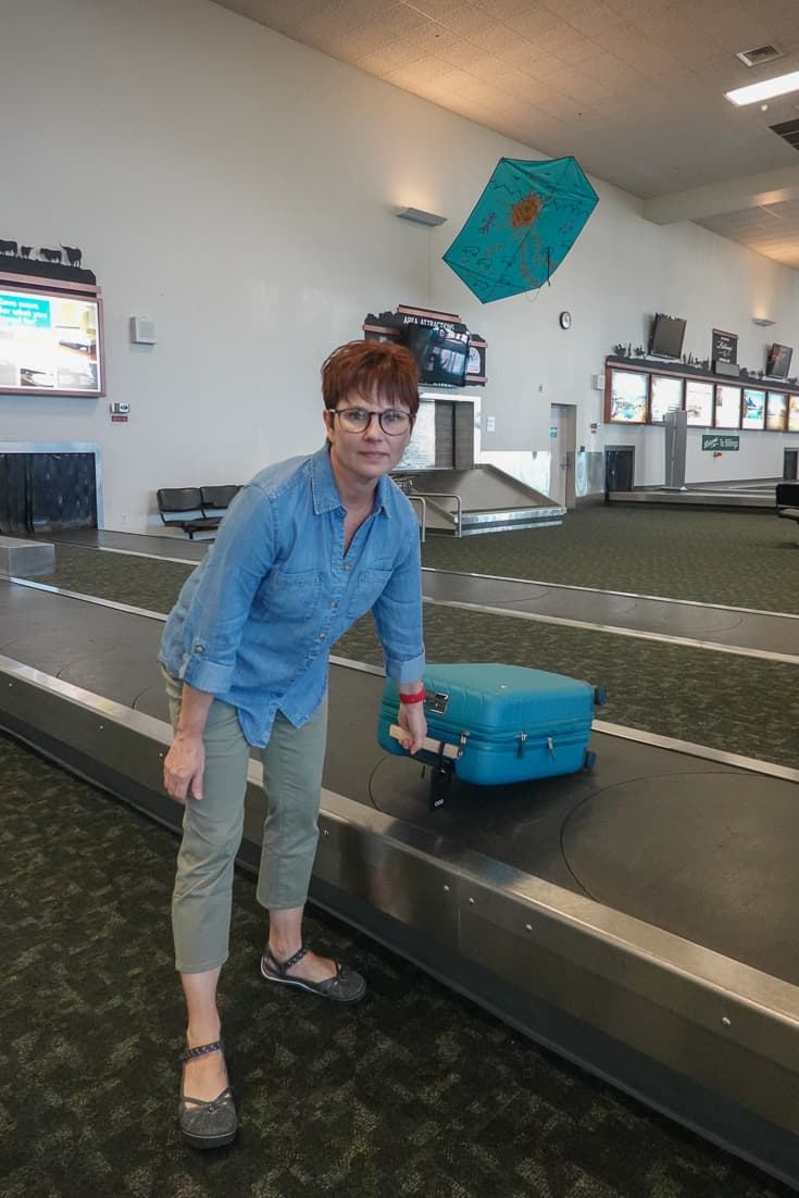Andi Wearing Chicos Summer Travel Collection at the Airport