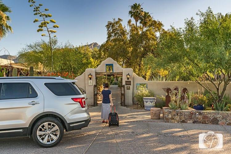 Arriving at Hacienda del Sol in Tucson hero