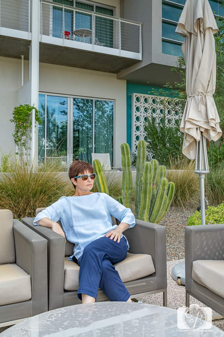 Enjoying a Staycation at Mountain Shadows Resort in Chicos Summer Travel Collection