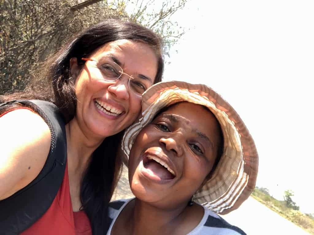 Traveler Tuesday – Jyoti of Story At Every Corner_I met this lovely school teacher as we walked over the bridge from Zambia to Zimbabwe