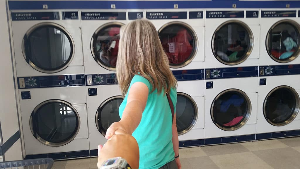 Traveler Tuesday - Fiona and Jerry of A Couple of Drifters_Fiona Laundry