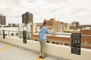 Andi on the Roof in Billings