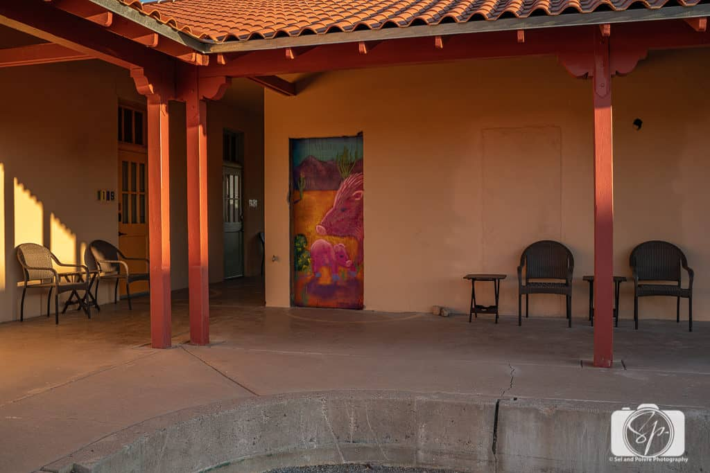 Art work at the Sonoran Desert Inn in Ajo Arizona