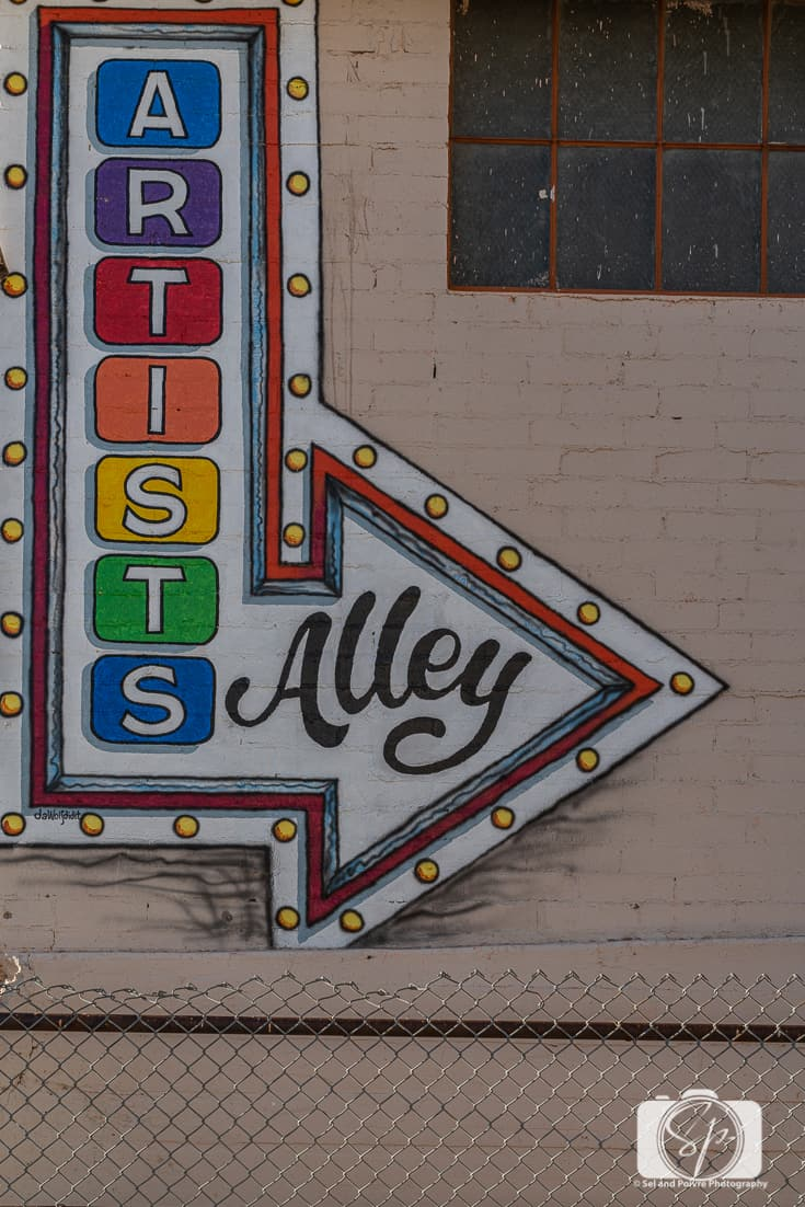 Artist Alley in Ajo Arizona