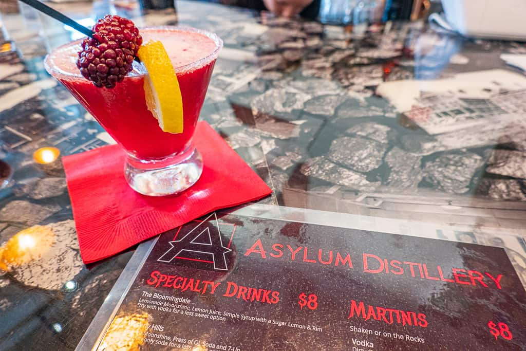 Blackberry martini from Asylum Distillery in Billings Montana