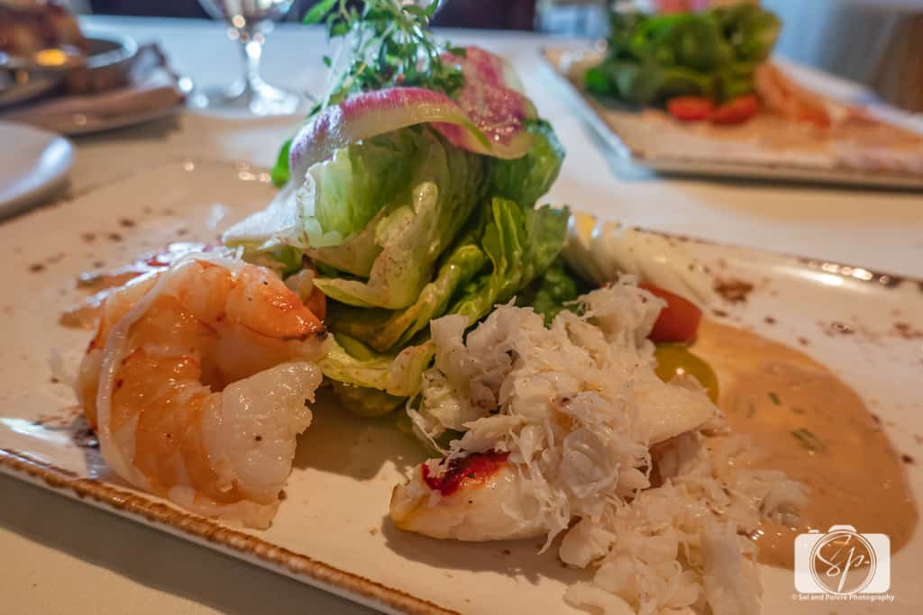 Brunch at La Hermosa Inn Phoenix Scottsdale Arizona - Seafood Louie Salad