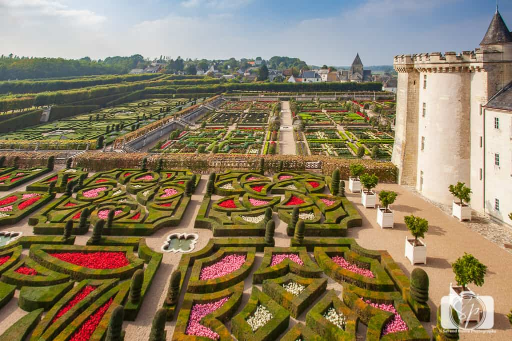 Chateau Villandry France Gardens from Above