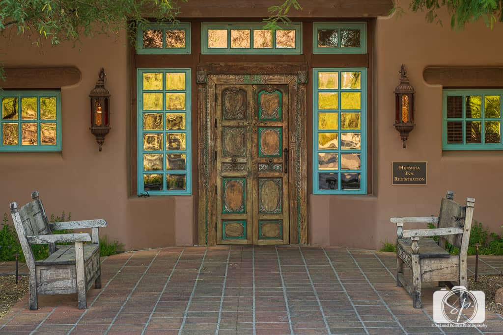 Front Entrance of La Hermosa Inn Phoenix Scottsdale Arizona