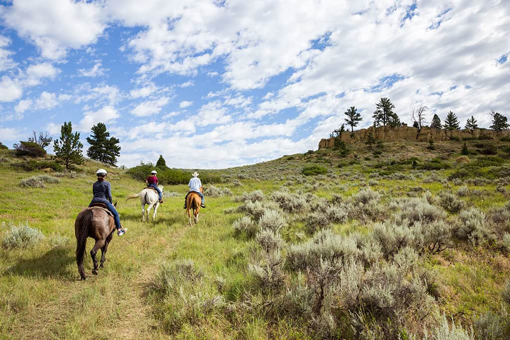 Horseback Riding at Bitter Creek near Billings Montana_Photo credit Emily Sierra