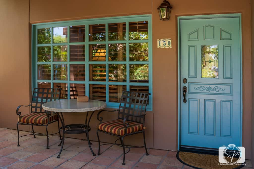 La Hermosa Inn Phoenix Scottsdale Arizona - Deluxe Casita Front Porch