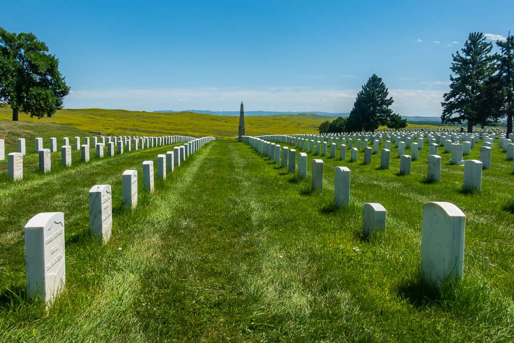 Little Big Horn Graves in Montana