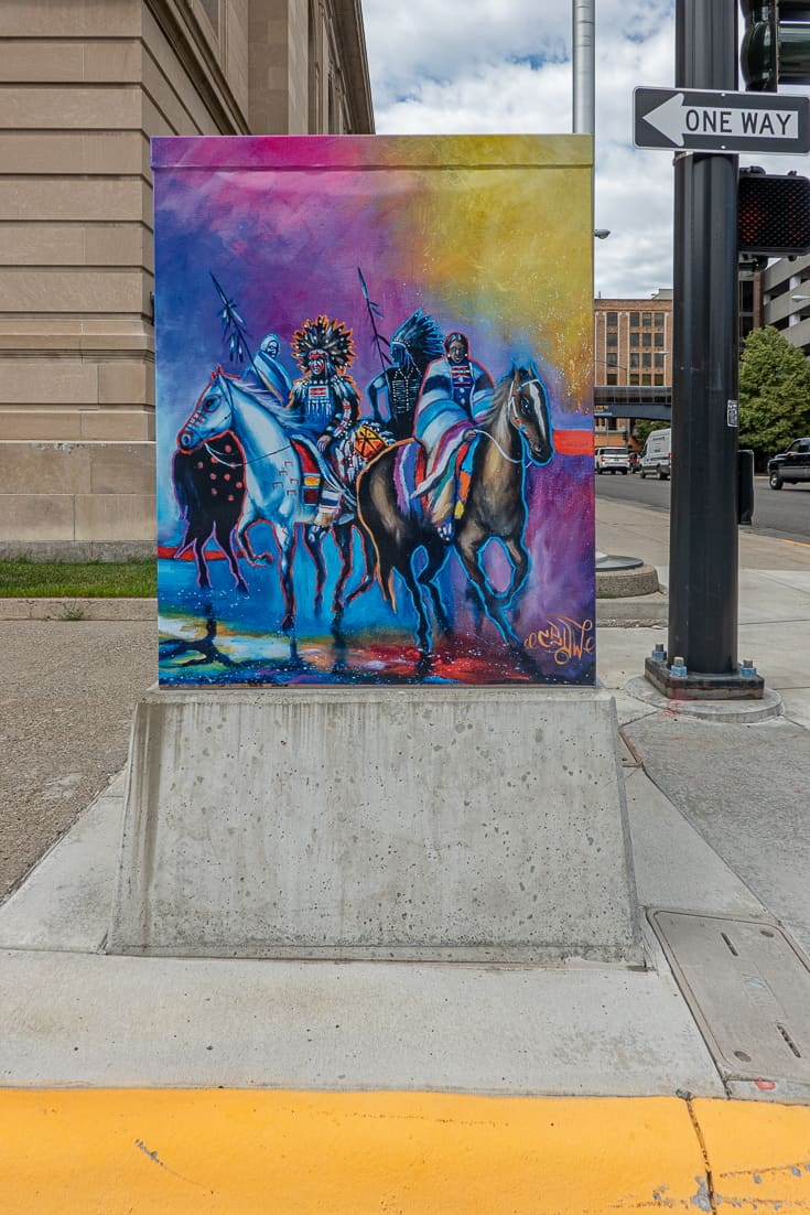 Traffic Signal Box art in Billings Montana