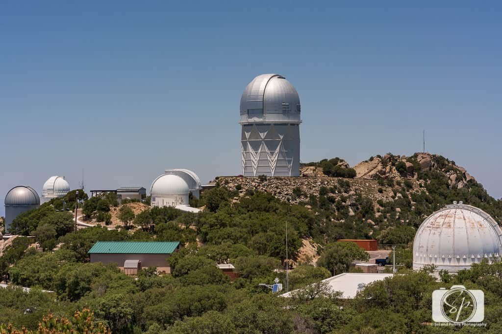 View of several observatories on Kitt Peak National Observatory