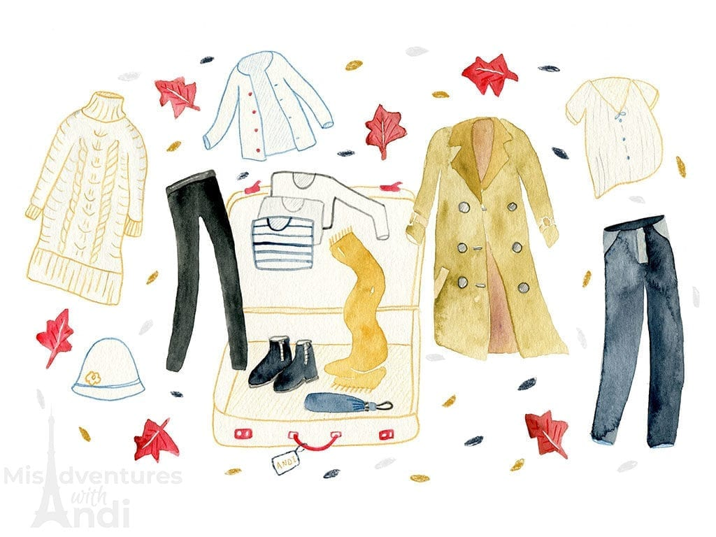 Packing for Paris in the Fall Autumn Blog