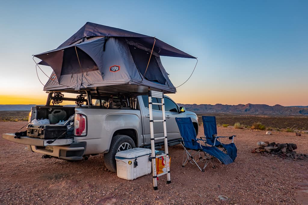 Tepui Hard Shell Rooftop Tent at Alstrom Point