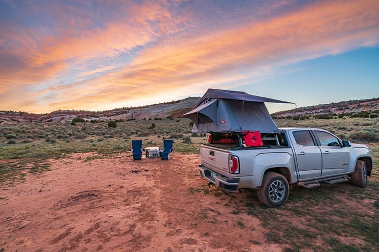 Tepui Hard Shell Rooftop Tent at Sunset hero