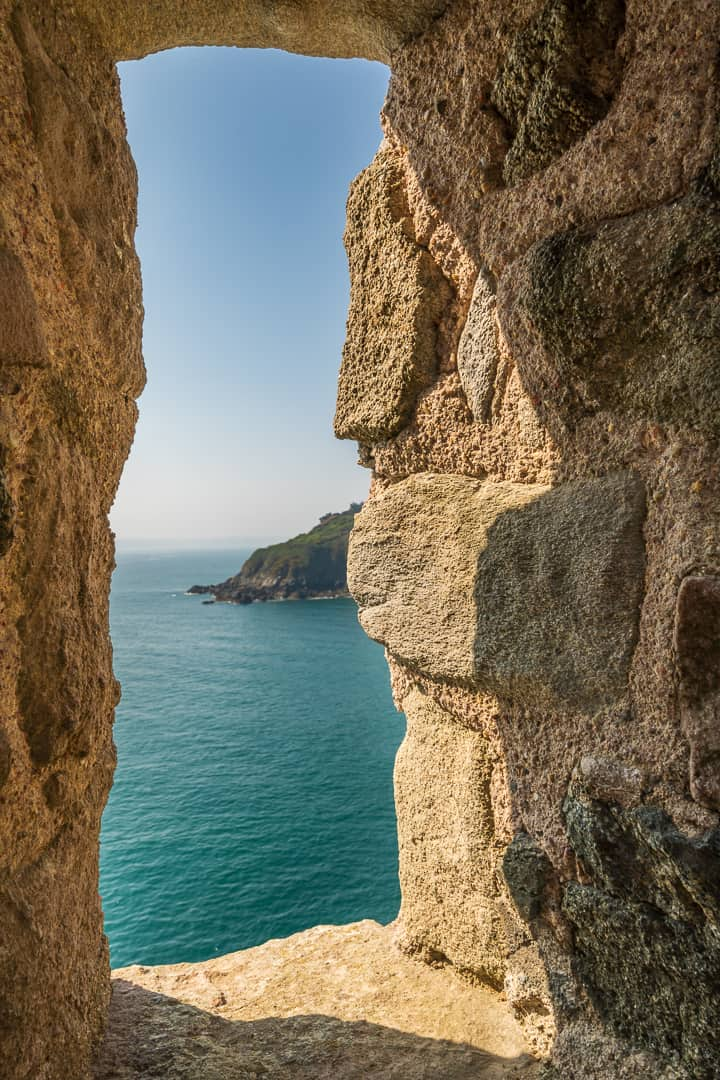 The view out to see form Fort La Latte Brittany France