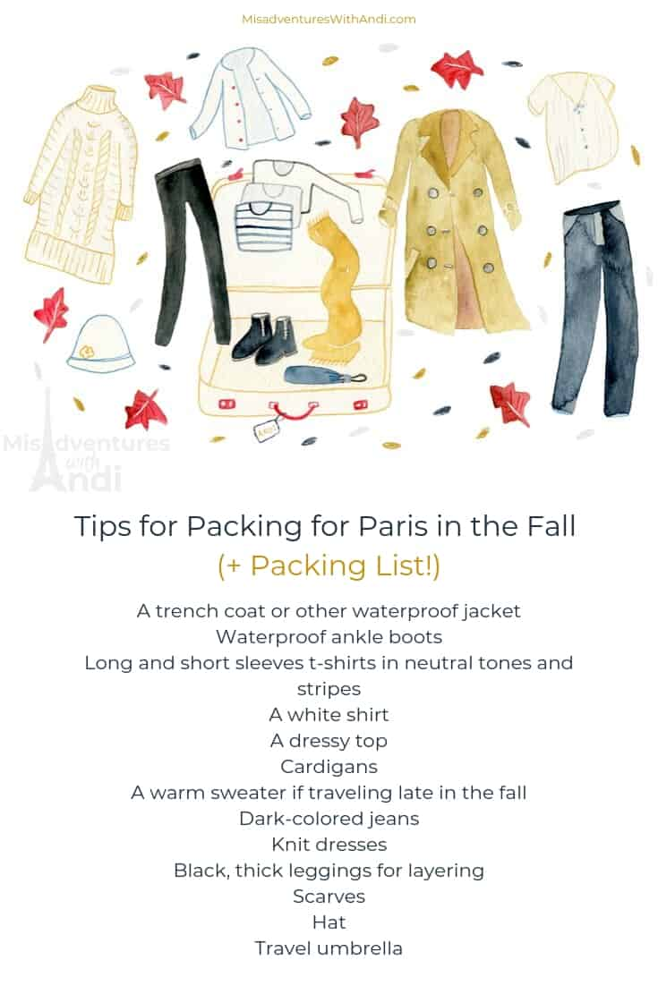 Tips for Packing for Paris in the Fall France