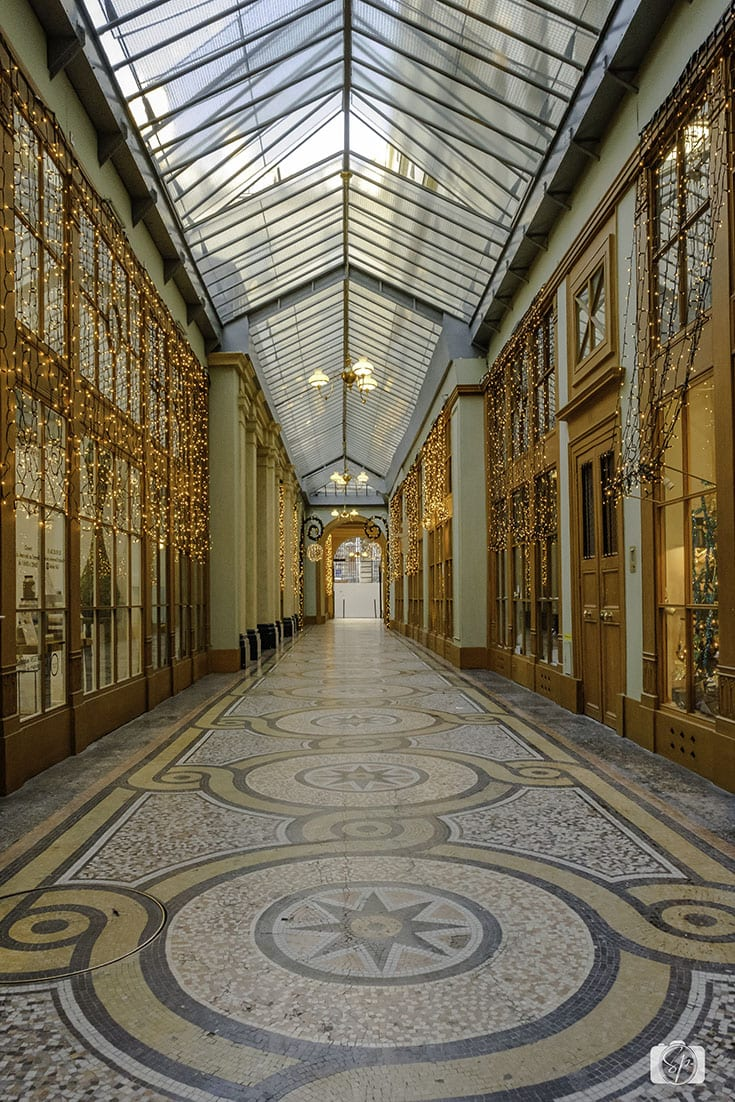 Passage Galerie Vivienne Covered Passage in Paris France