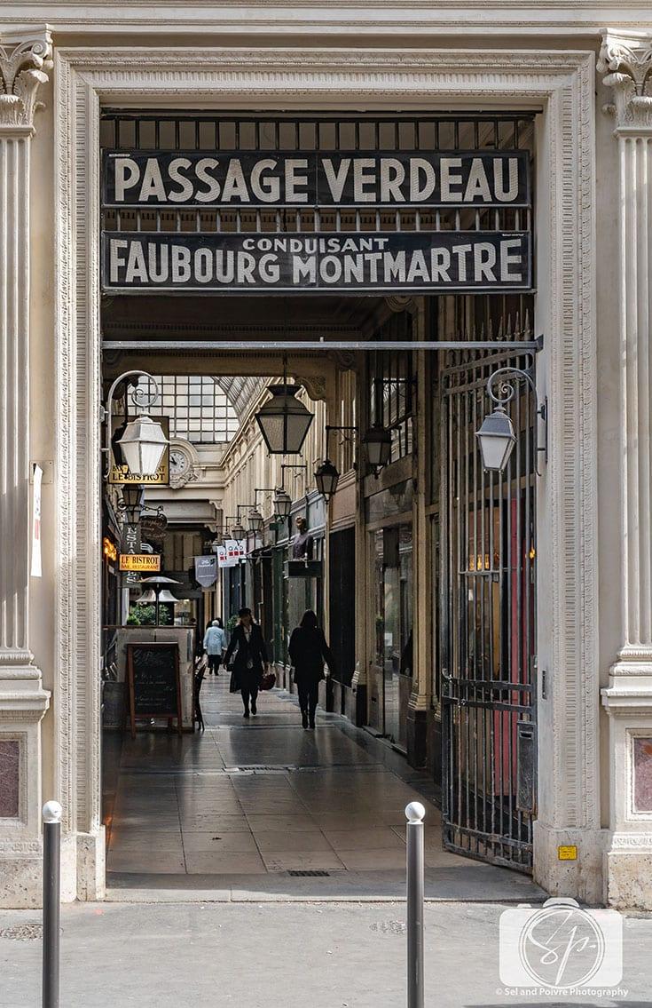 Passage Verdeau Covered Passage in Paris France