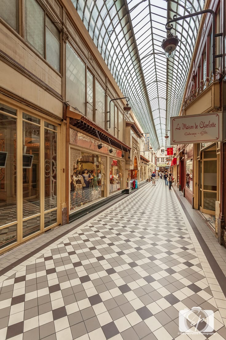 Passage des Panoramas- Covered Passage in Paris France