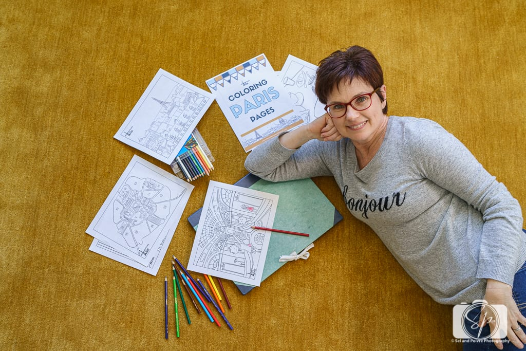 Andi in her Paris Coloring Pages