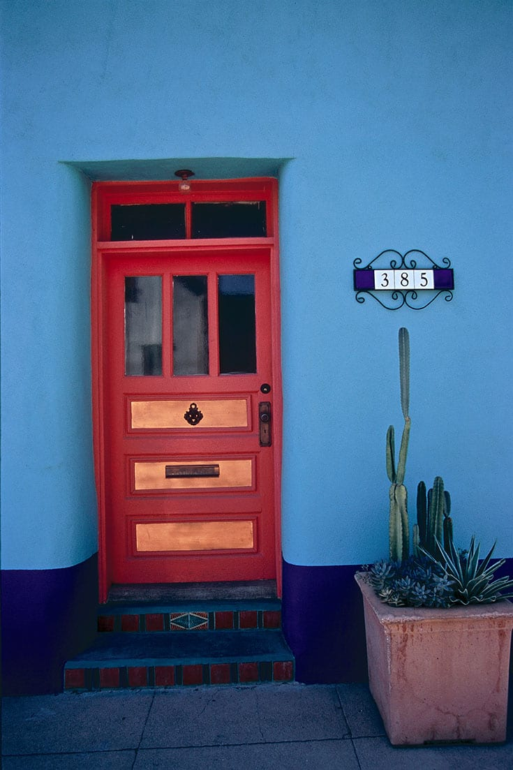 Adobe and Door in Tucson Arizona