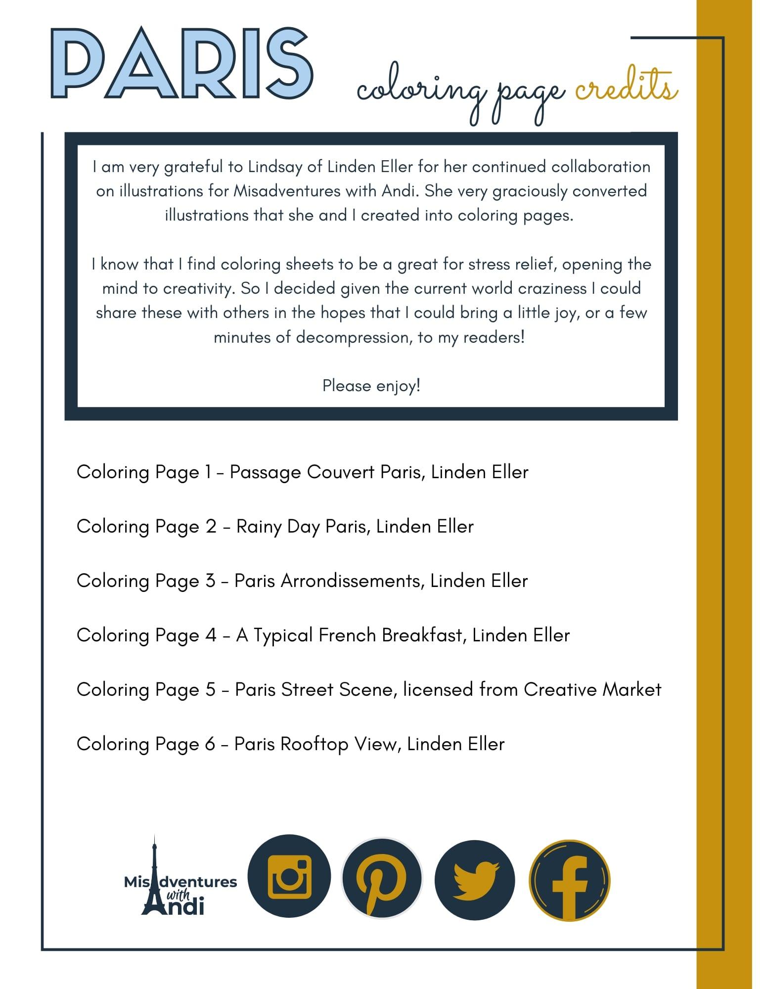 Free Paris Coloring Pages